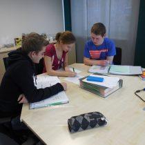 Werksunterricht mit unserer Ausbilderin Naemi Gampert