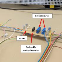Platine mit Sensoren